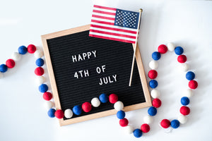4th of July decoration, felt decoration, Nivas Collection