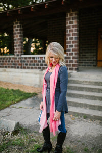 Cashmere + Cotton Scarf (Pink Ombre)