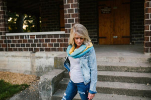 Cashmere + Cotton Scarf (Yellow & Green)