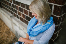 Cashmere + Cotton Scarf (Blue)