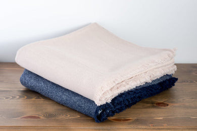 Classic Beige Pure Cashmere Throw