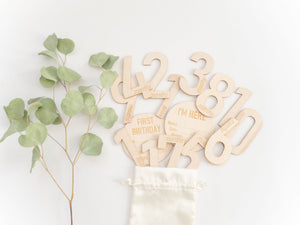 Wooden baby decor, Nivas Collection, Baby milestones