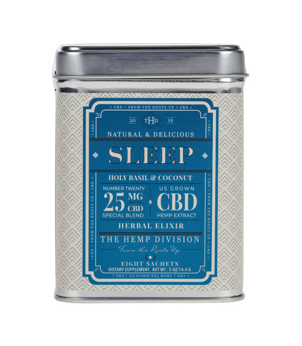 Sleep 8 CT Sachets - Holy Basil & Coconut - 25 MG CBD