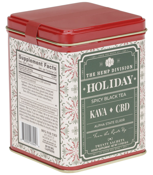 Holiday Kava CBD - Tin of 20 Sachets