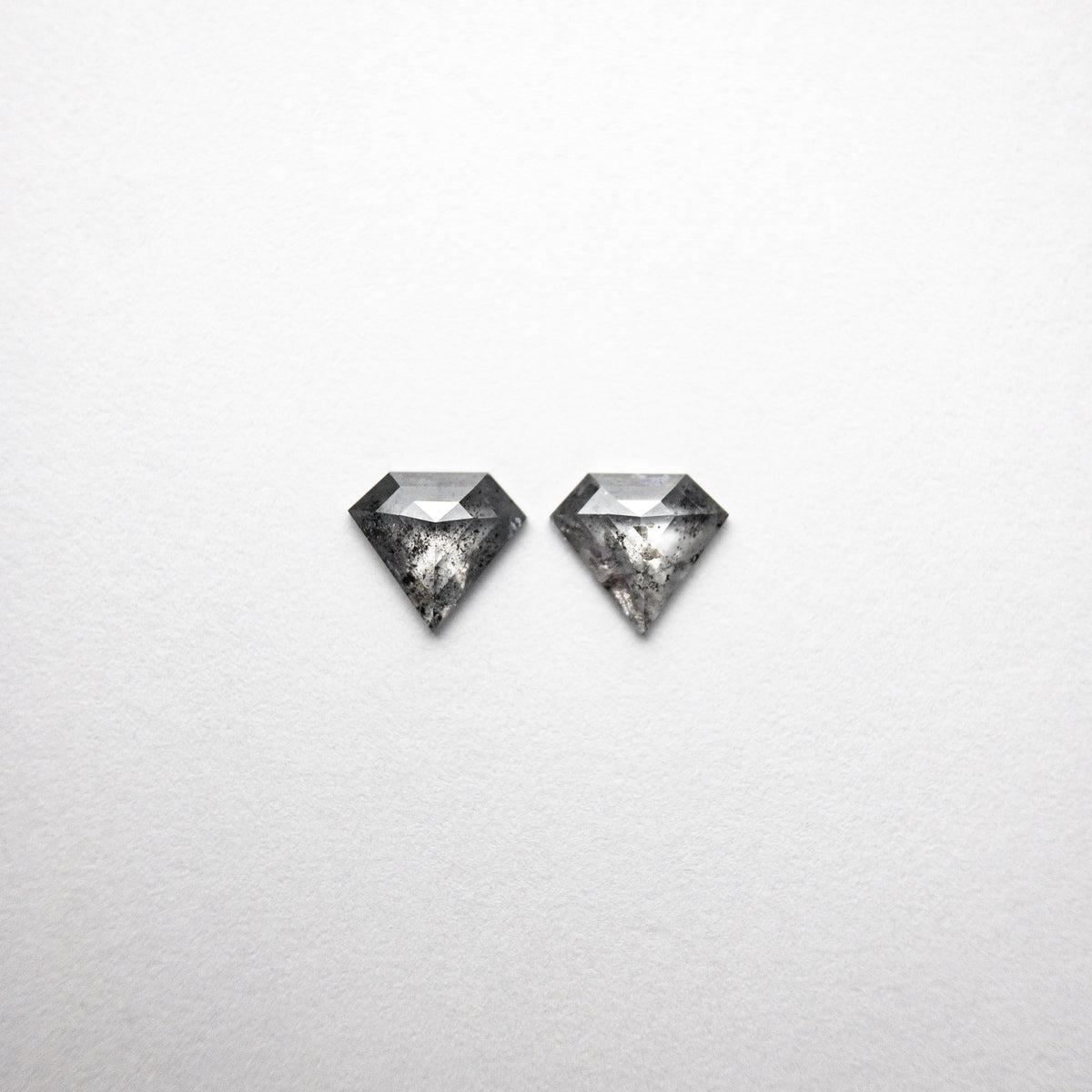 0.95ct 5.94x6.57x1.84mm Shield Rosecut Matching Pair 18454-05