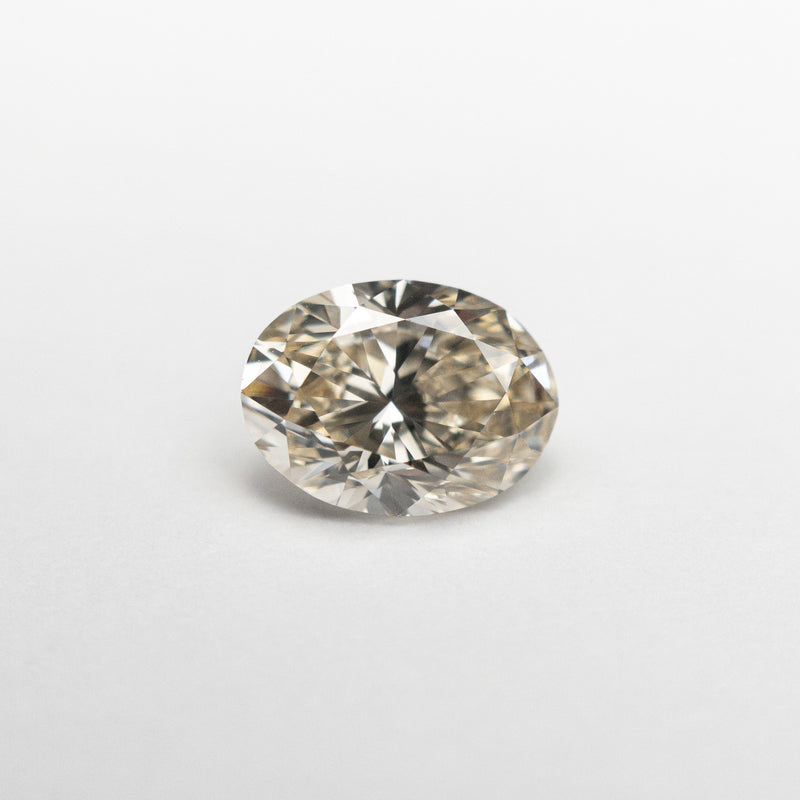 1.00ct 7.39x5.56x3.66mm VS2 Champagne Oval Brilliant 18461-01