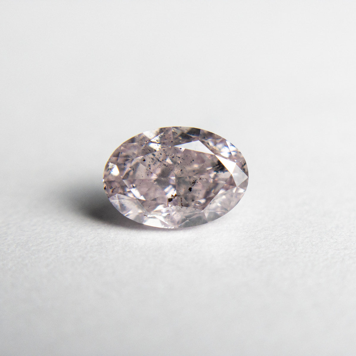 1.09ct 7.45x5.22x3.42mm Argyle GIA I1 Fancy Pink Purple Oval Brilliant 18557-01