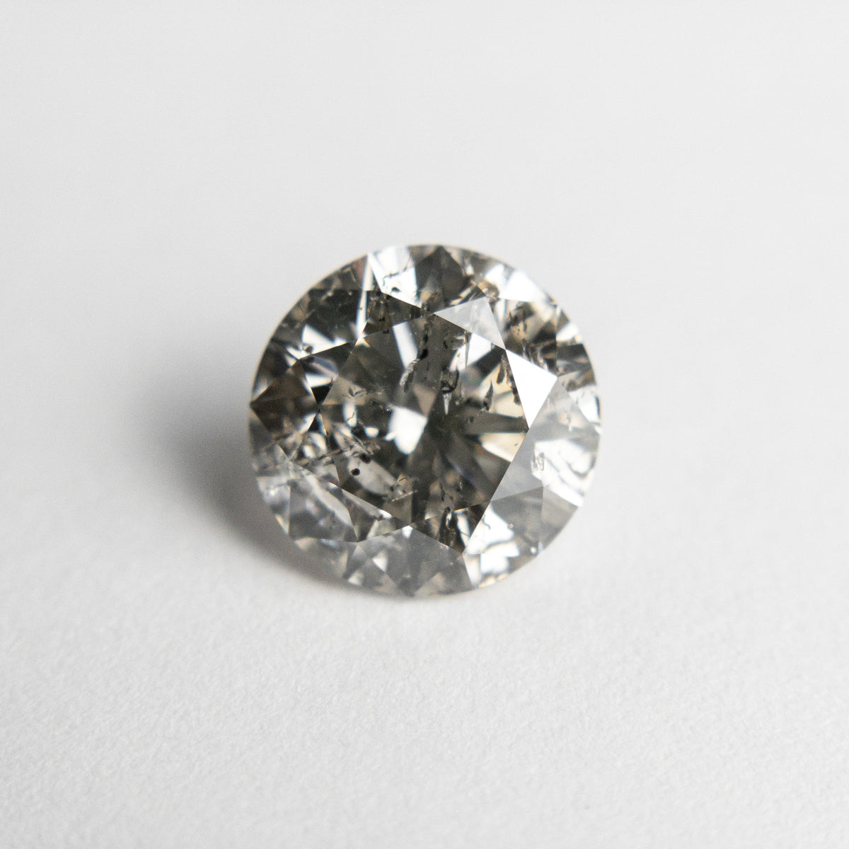 1.80ct 7.78x7.71x4.81mm Champagne Salt and Pepper Round Brilliant 18673-01