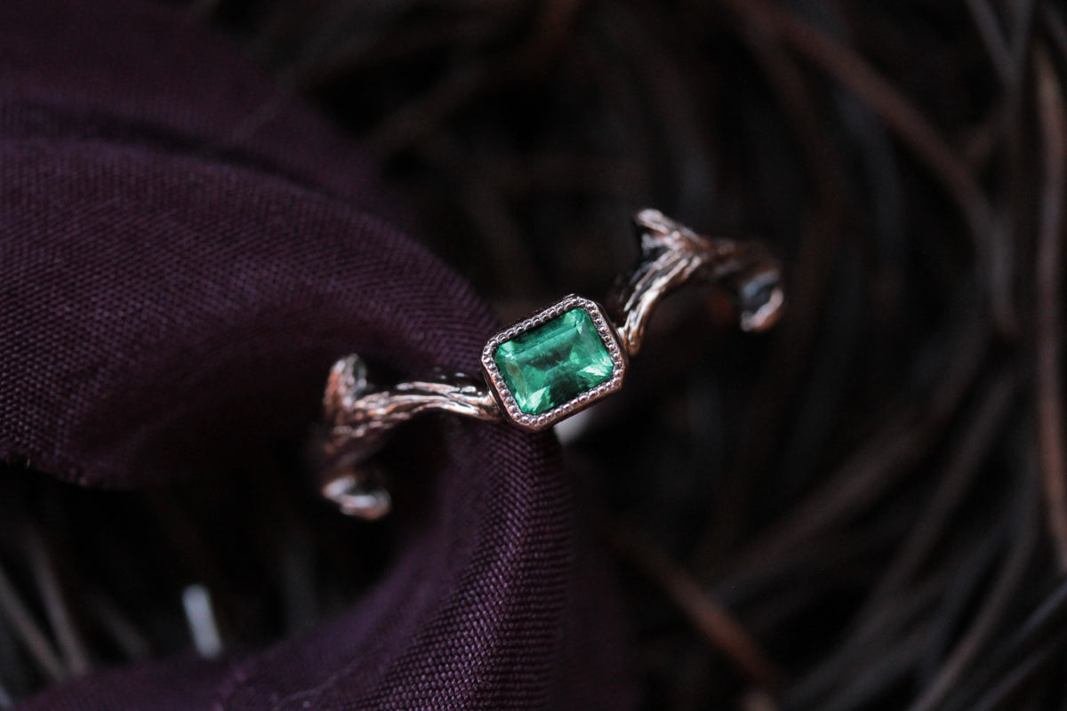 The Eulogy Ring in Emerald