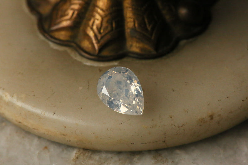 2.50 carat Fancy White Pear Cut Diamond