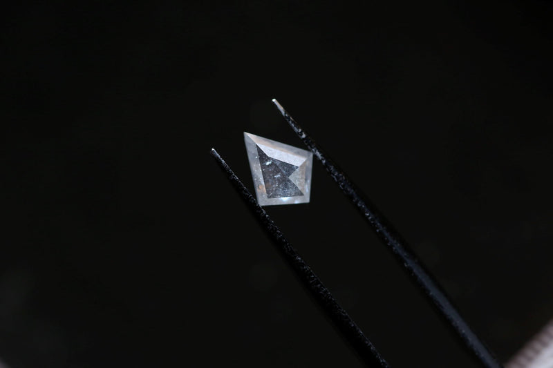 .86 carat milky white rose cut kite diamond