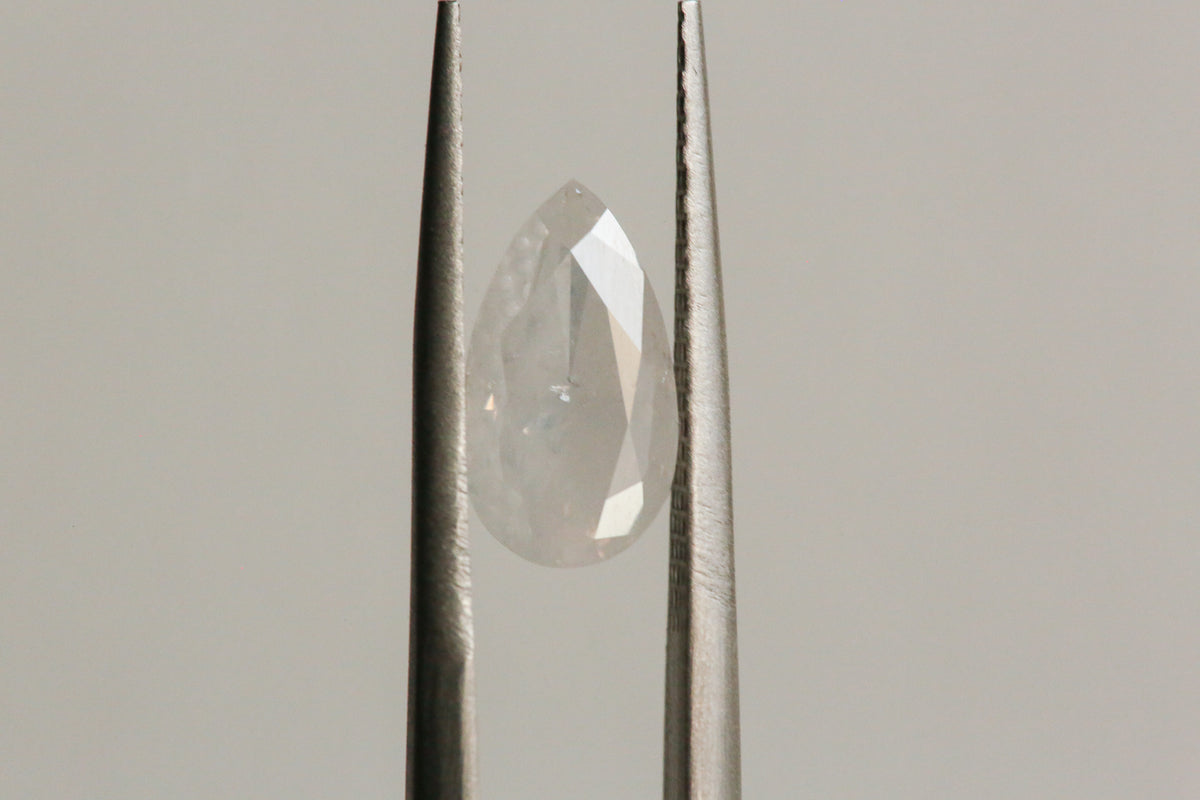 2.03 carat Fancy White Pear Cut Diamond