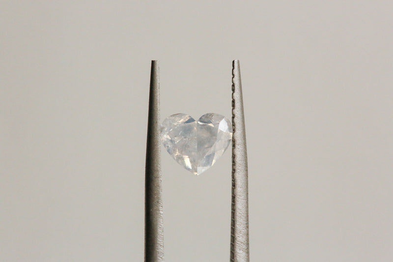 1.02 carat Opalescent White Heart Cut Diamond