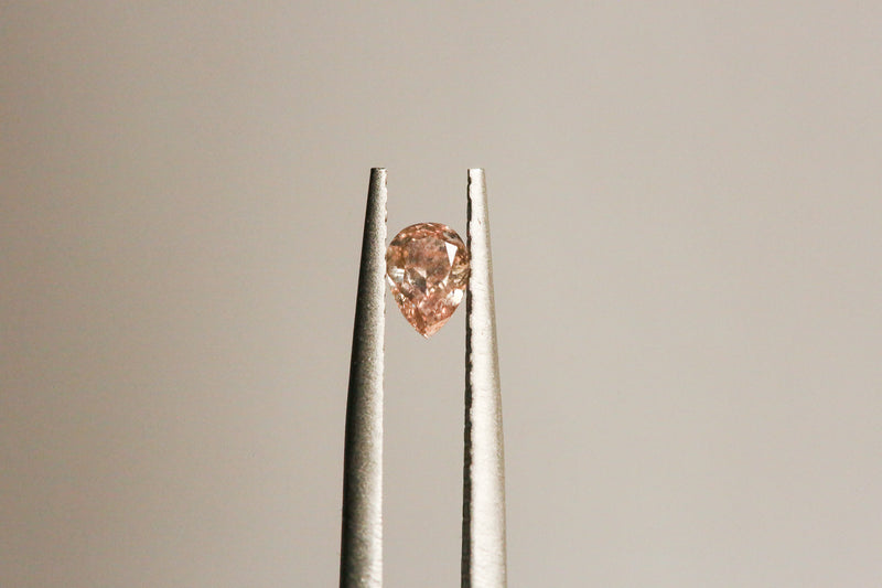 .24 carat Fancy Pink Pear Cut Diamond