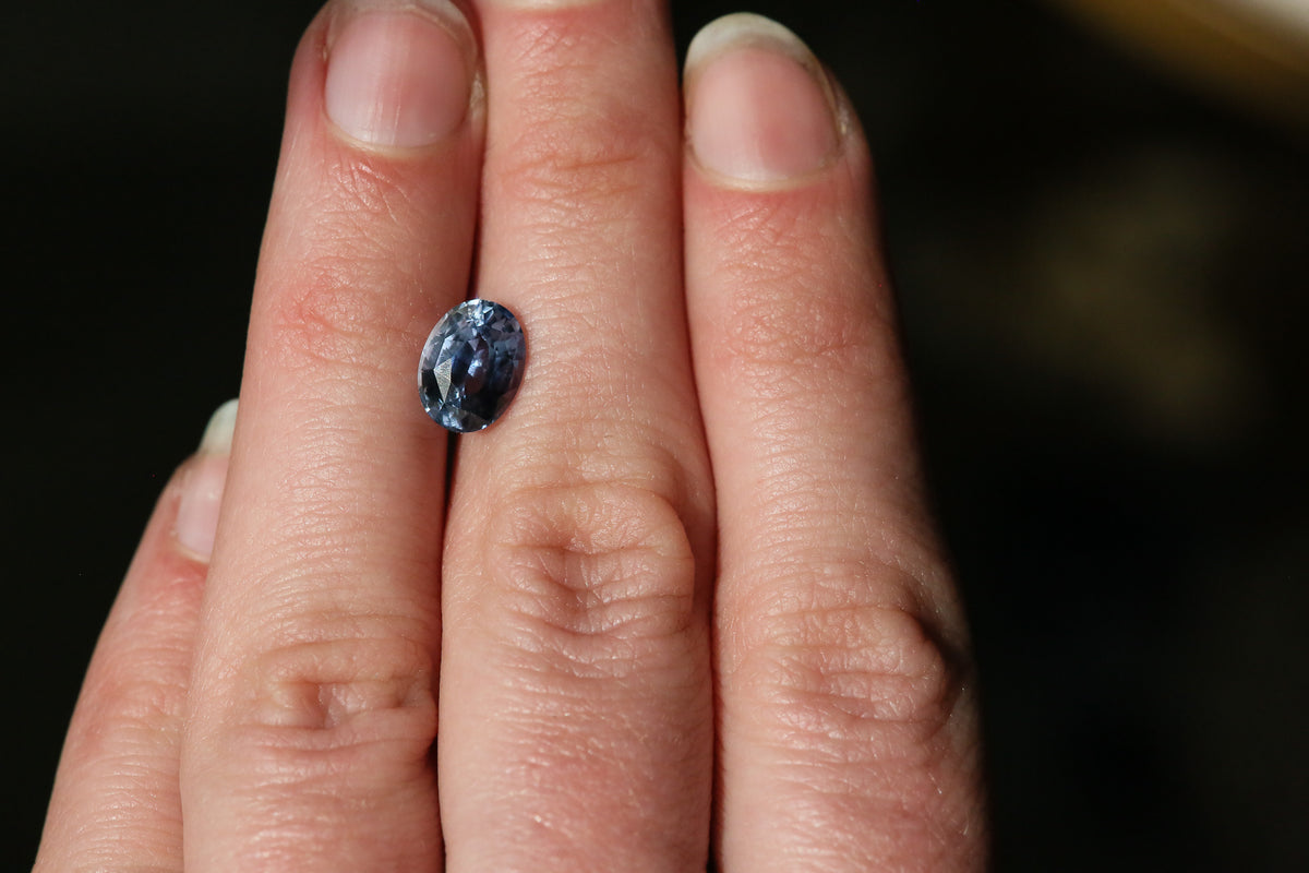 2.6 carat Periwinkle Oval Sapphire