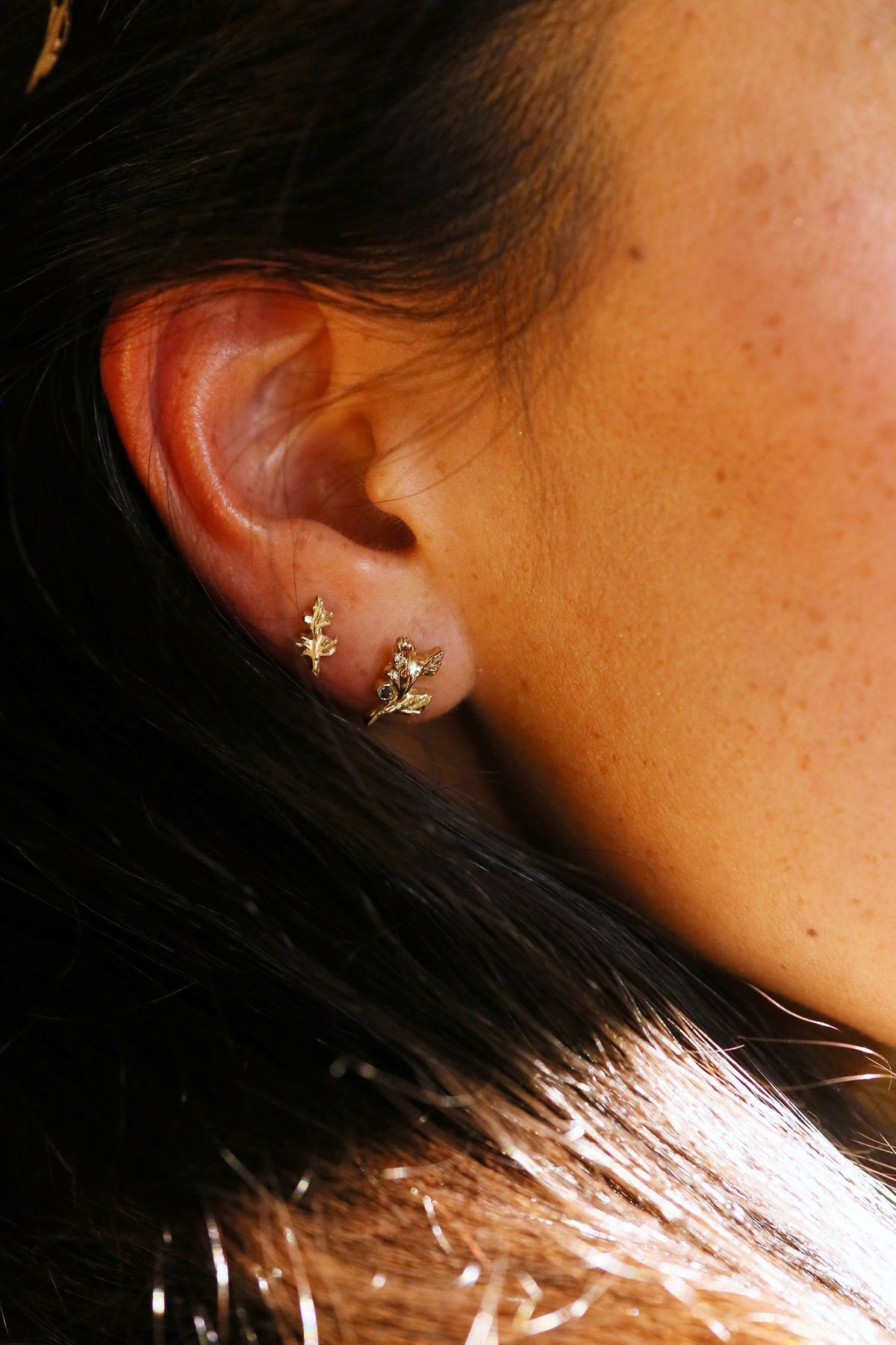 The Mugwort Sprig Single Earring