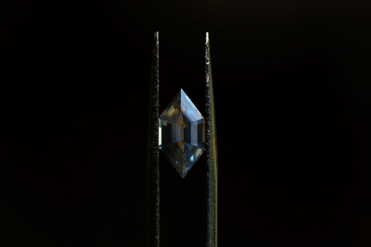 2.06 carats Pale Yellow and Blue Geometric Cut Sapphire