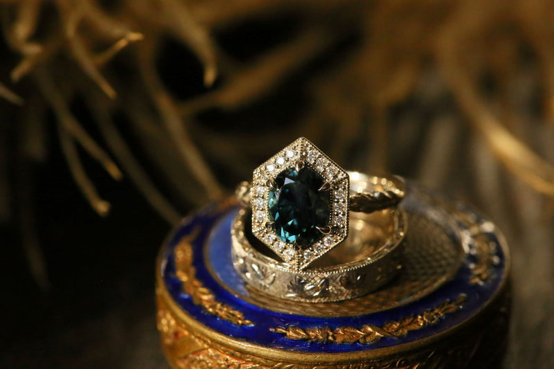 The Inverness Ring in Blue Sapphire