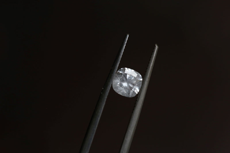 .91 carat Silken Grey Cushion Cut Diamond