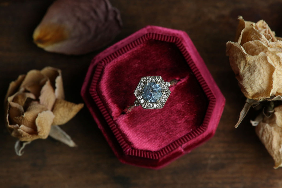 The Camelot Ring in Montana Sapphire