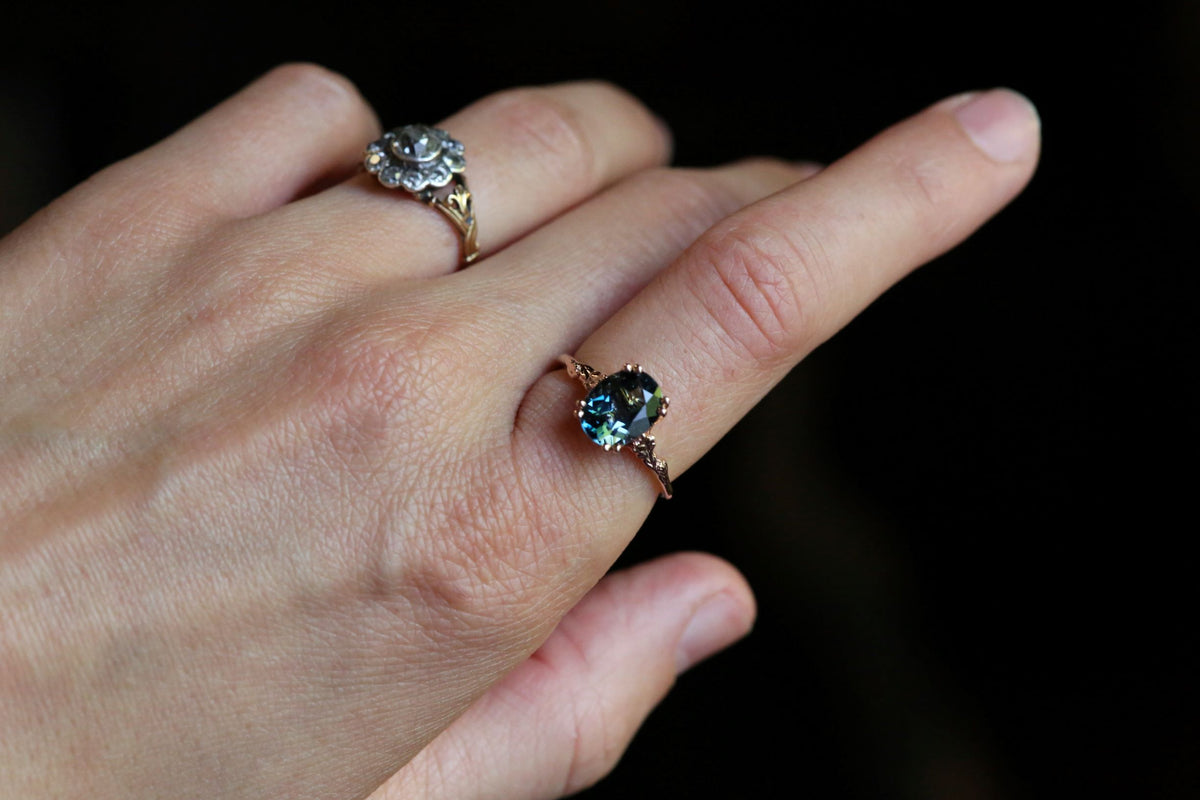 The Fable Ring in London Blue Topaz
