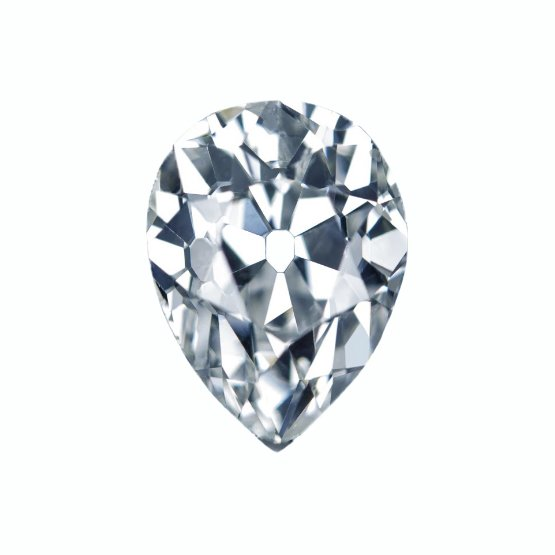 Antique Pear cut Moissanite by Harro Gem