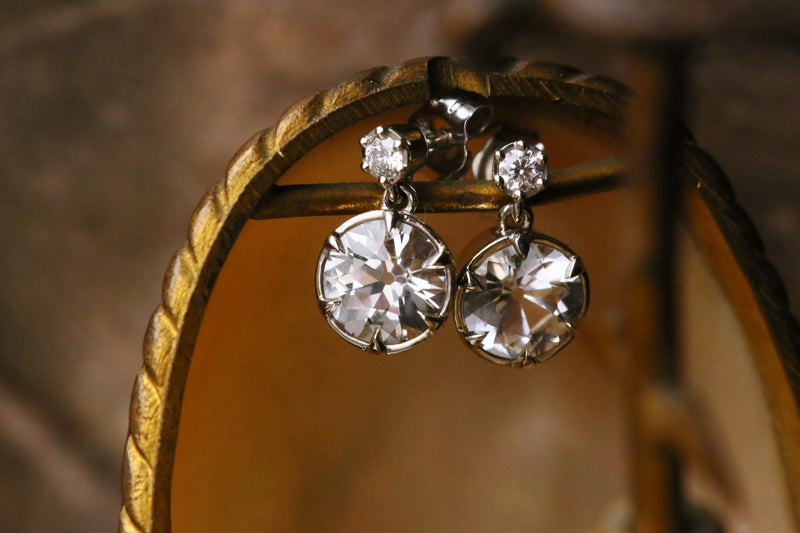 The Louisa Earrings in White Sapphire