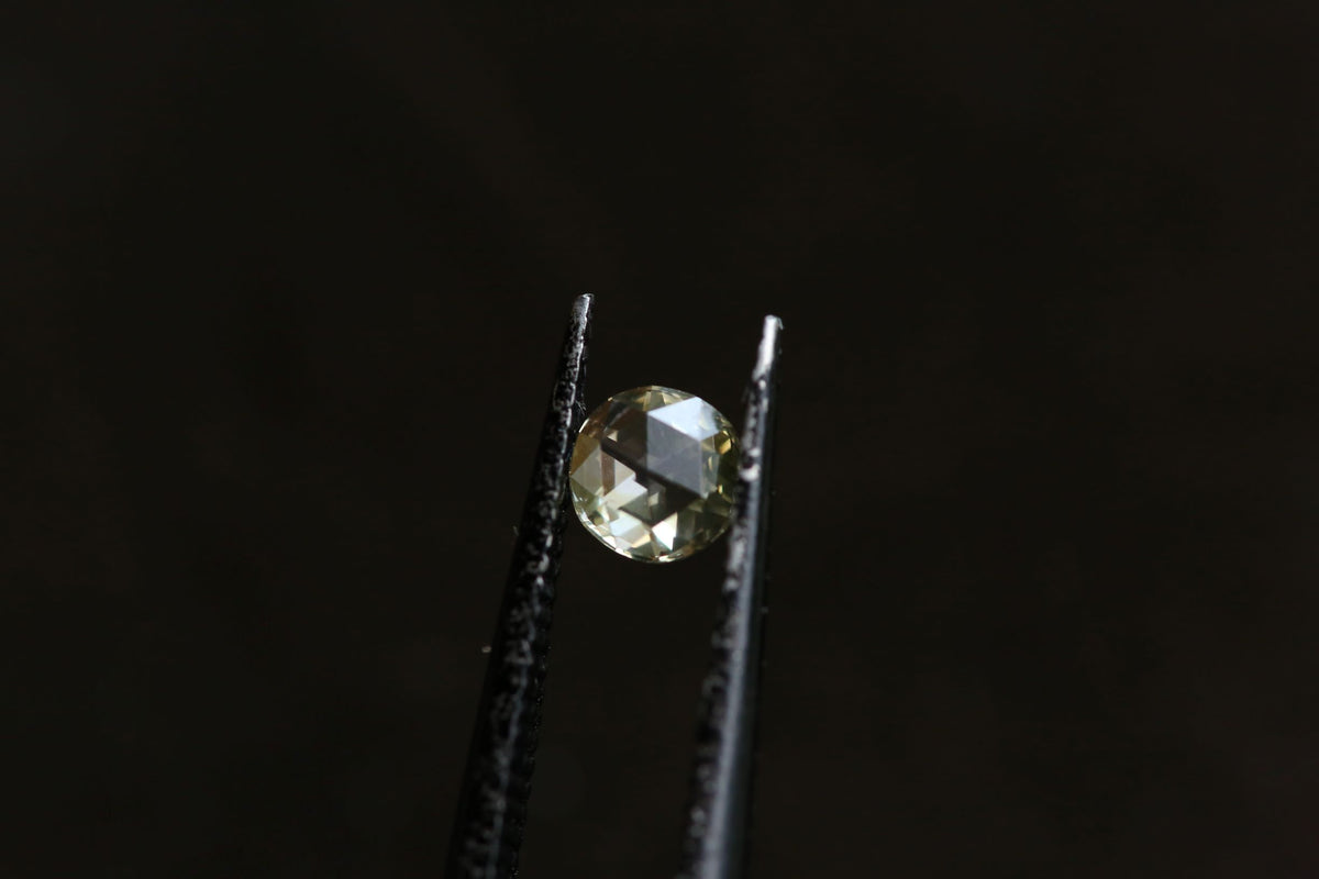 .20 carat Pale Olive Yellow Round Rose Cut Diamond
