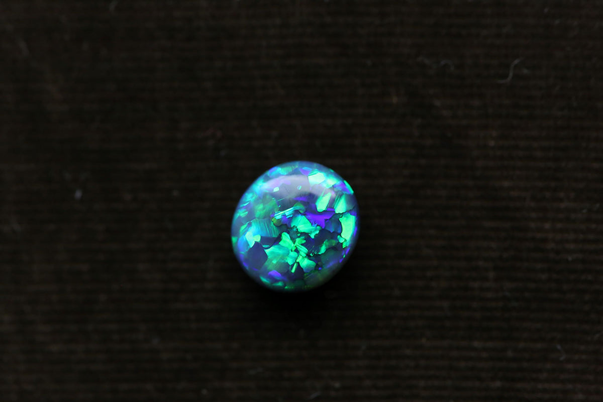 2.18 carats Oval Cut Lightning Ridge Australian Black Opal