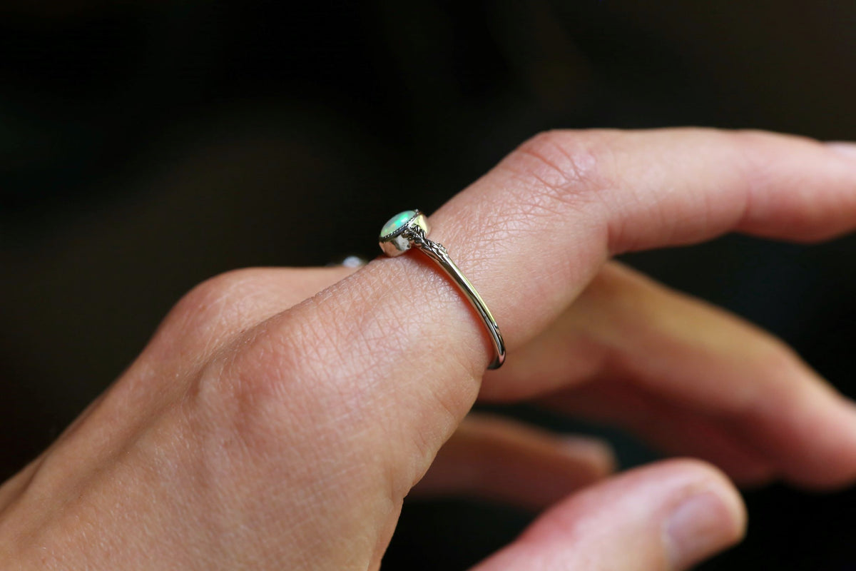 The Cocooned Fable Ring in Opal