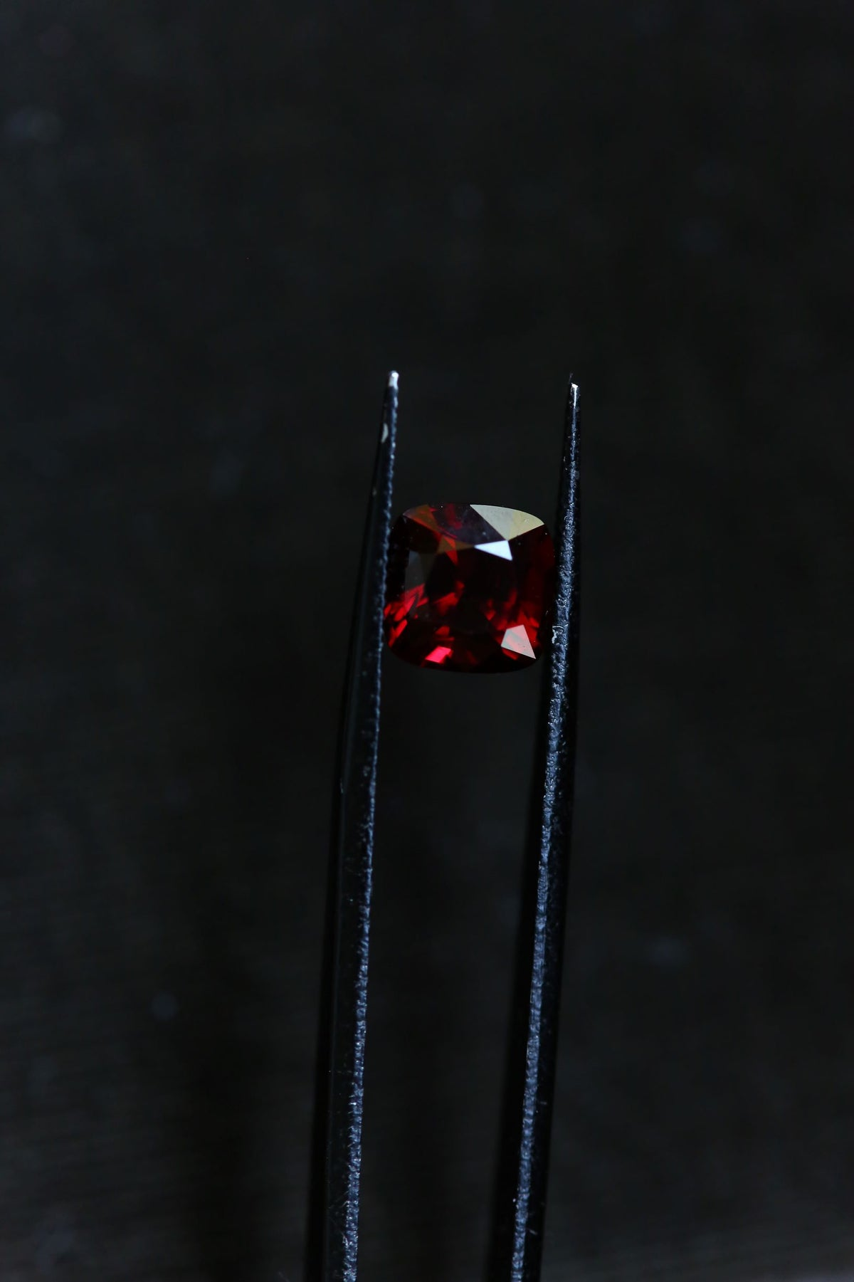2.67 carats Deep Red Cushion Cut Spinel
