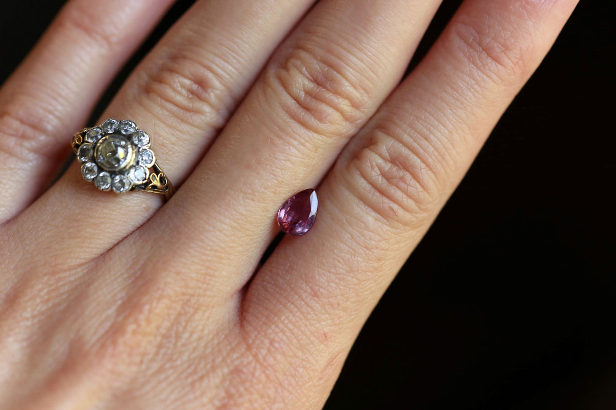 .93 carat Berry Pink Pear Cut Ruby