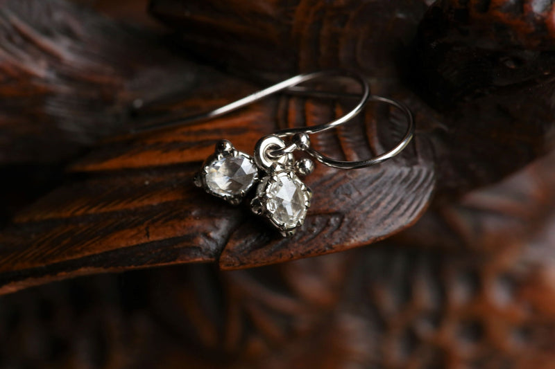 The Scrying Mirror Rose Cut Diamond Earrings