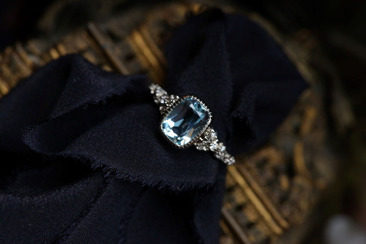 The Cocooned Reverie in Sky Blue Topaz