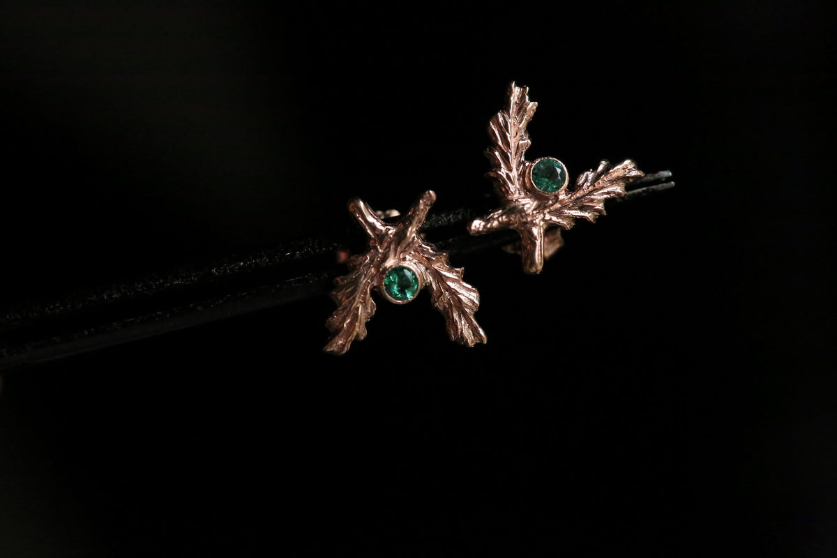 The Valkyrie Earrings in Emerald