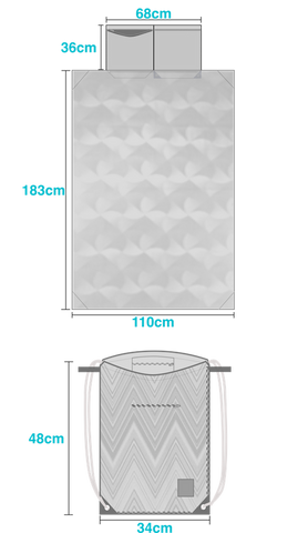 Ibora beach bag features built in blanket and so much more