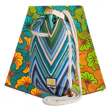 Load image into Gallery viewer, Ibora Beach Bag (Blue Zigzag)