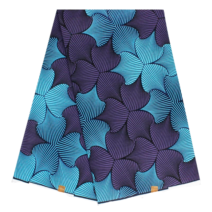 Ibora Beach bag Blanket insert blue leaf print