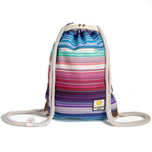 Ibora the  Beach Bag reimagined front view striped design