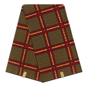 Red Black Squared Blanket