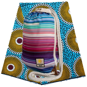 Ibora Beach Bag (Striped) /blanket not included