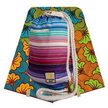 Load image into Gallery viewer, Ibora Beach Bag (Striped) /blanket not included