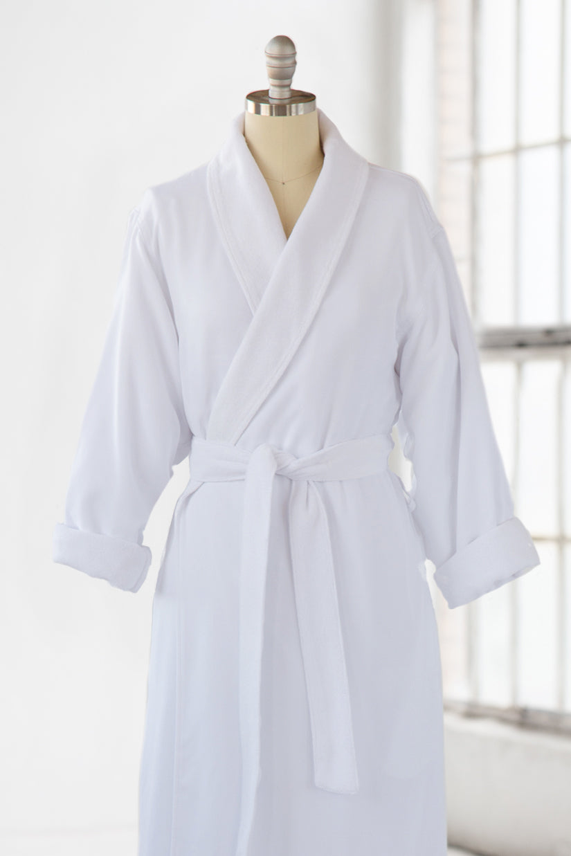 Simple Spa Robe Terry Cloth Microfiber White Luxury Spa Robes