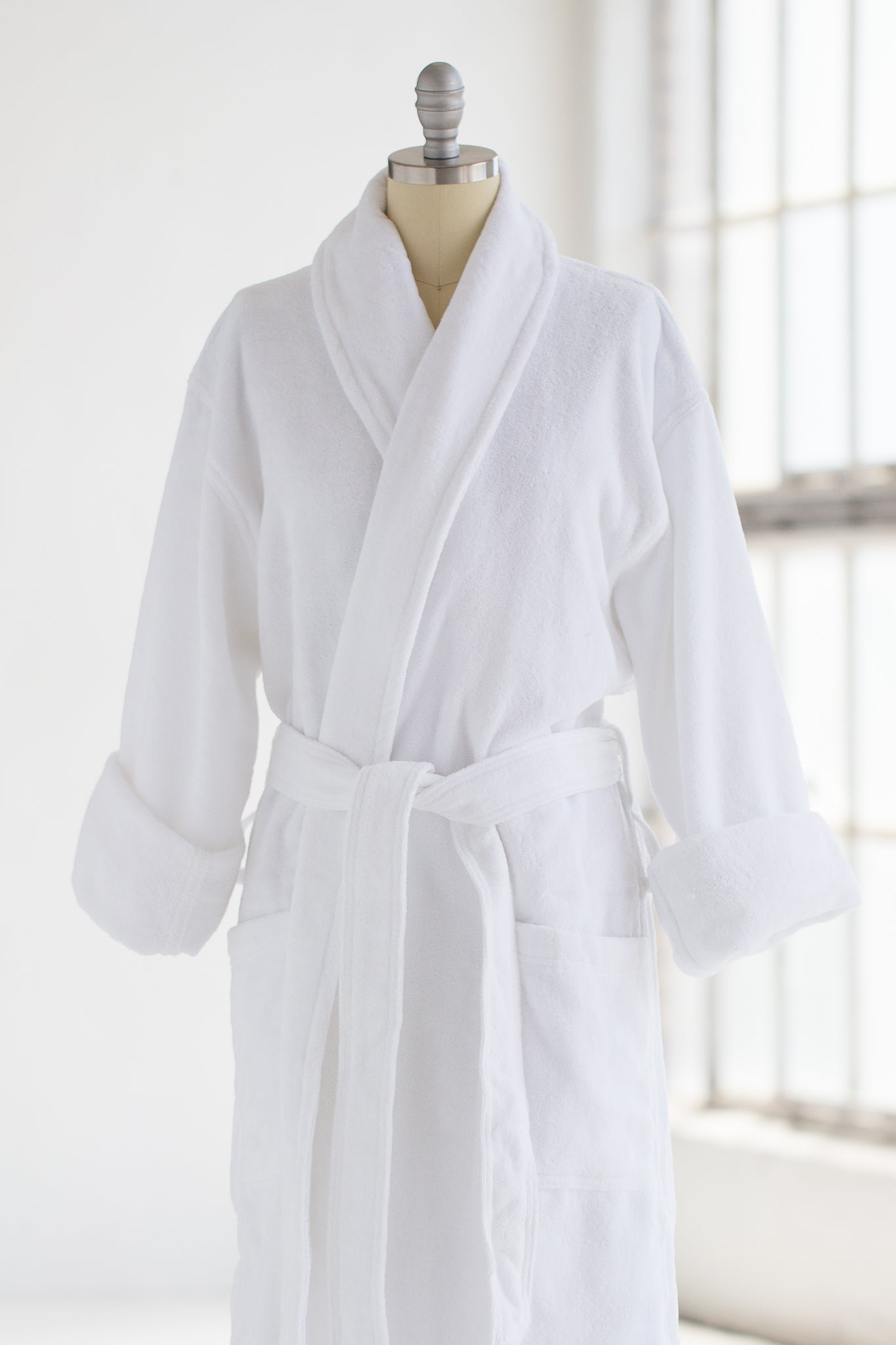 buying cheap Good Prices search for clearance Cotton Terry Velour Spa Robe - White