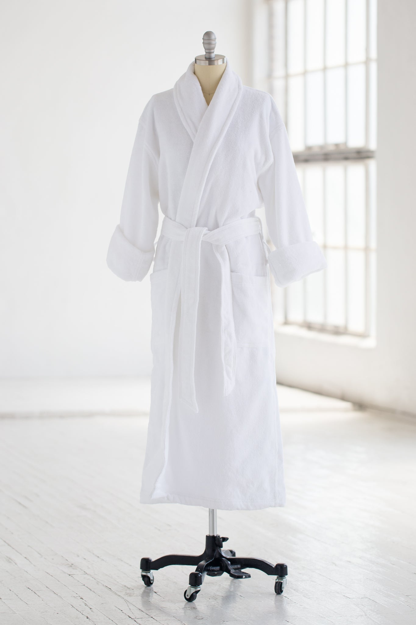 Hotel Spa Robe - Cotton Terry Velour - White  509f74ac9