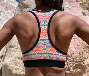 Retro Pinwheel Sports Bra