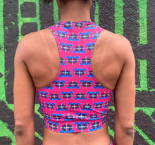 Load image into Gallery viewer, Strange Decisions Zip Sports Bra