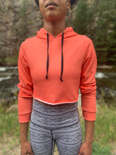 Load image into Gallery viewer, Coral Crop Hoodie