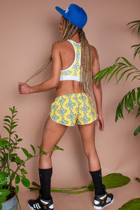 Gels Yellow Running Shorts