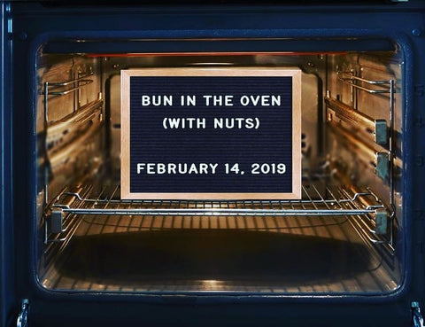bun in the oven pregnancy announcement